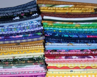 Five Fat Quarters 18 x 22 inches High Quality Cotton Fabric