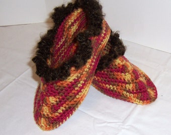 Slippers Crochet Women's Medium Indian Corn