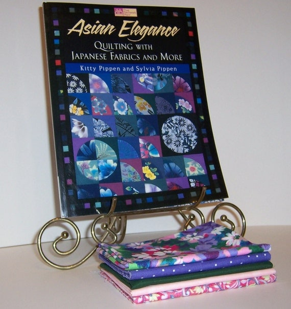 Fat Quarters and Quilt Book Kit Asian Elegance by Kitty & Sylvia Pippen