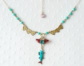 "Charm necklace ""more fish in the sea"""