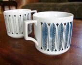 Set of 2 Mid Century Coffee Mugs