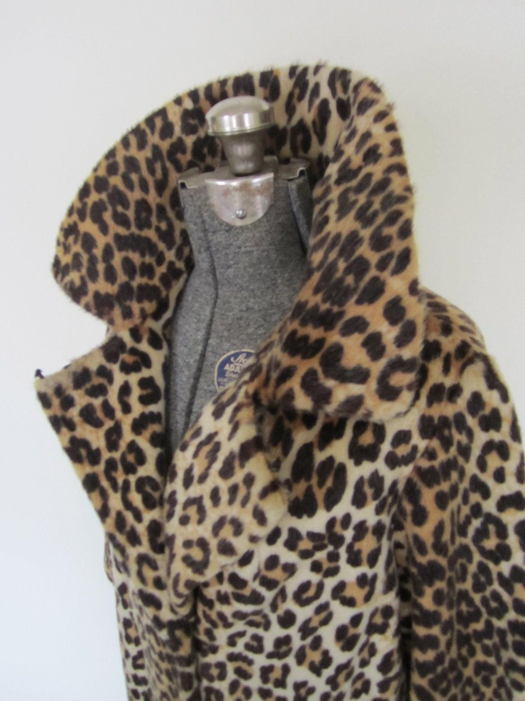 Vintage Leopard Skin Coatthree Quarter Sleeveslarge