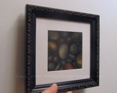 SALE - Framed ORIGINAL, Stones, Black Frame, Colorful Rocks, Pastel, Home Decor, Earth Tone, Nature, Gift for Father