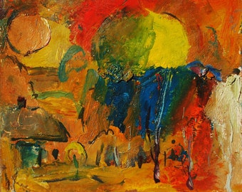 World Of Autumn - original oil painting by russian artist