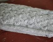 Clutch Purse Knit Grey Heather Arches Pattern
