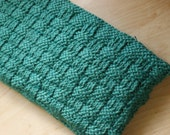 Clutch Purse Knit Tourquise Basket weave Pattern