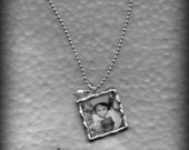 Personalized Photo Jewelry Keepsake Necklace on a Sterling silver necklace.   Grandma, Mother necklace. Great Christmas gift.