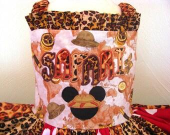 Boutique Mickey's Safari Adventure Jumper Twirl Dress