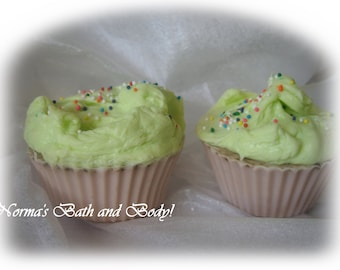 mint chocolate party cupcake glycerin soaps
