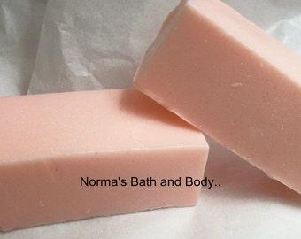 peppermint goats milk soap sample