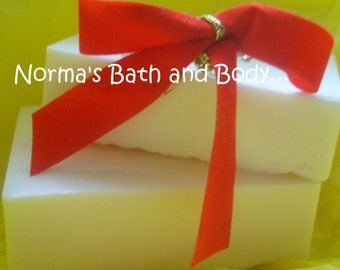 Unscented Soap- Glycerin Soap- Handmade Soap- Face and Body Bar- Soap Bar- Beauty- Soap