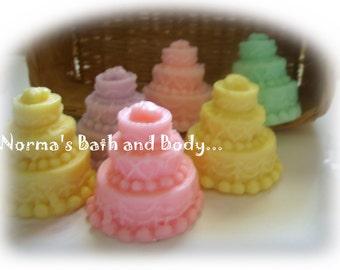 wedding cake soaps. set of 25