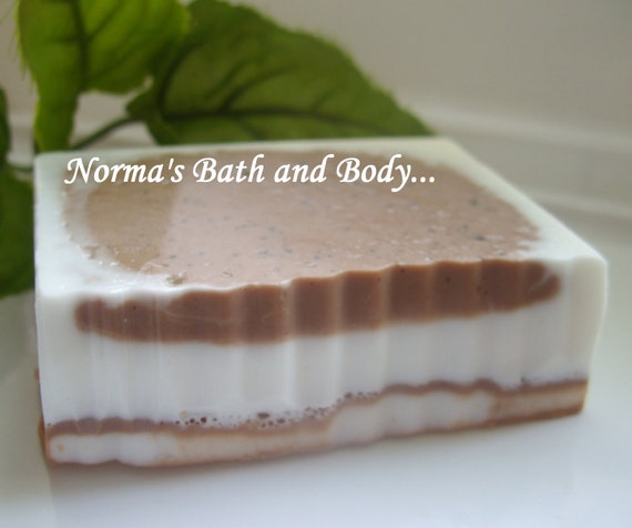 chocolate and cinnamon goats milk soap