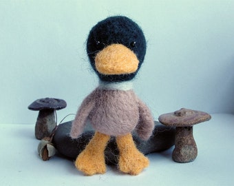 Needle felted mallard duck