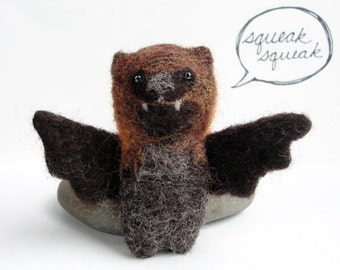 Needle Felted Bat / Flying Fox
