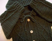 Boy's  Forest Green Hooded Sweater