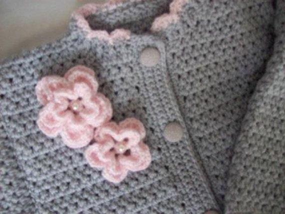 SALE - Girls - Sizes 8- Light Gray Handmade Sweater