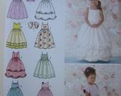 Simplicity 3943 Sewing Pattern Size 3, 4, 5, 6 Beautiful Child Special Occasion Dresses Flower Girl, Princess Dress Bolero Jacket
