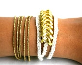 LUXLA Gold Hex Bracelet