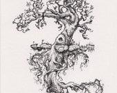 Original Drawing - Duality Tree Ghost