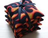Set of 4 Flame Beanbags