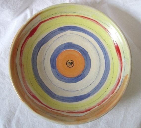 Large Handmade Ceramic Serving Bowl or Fruit Bowl