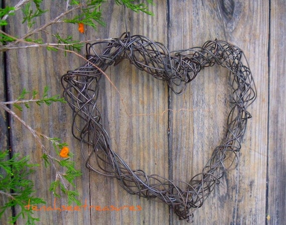 Decorative Wall Hanging Hearts : Wire heart hanging wall decor by tenahseetreasures on etsy