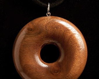 Walnut Doughnut pentant