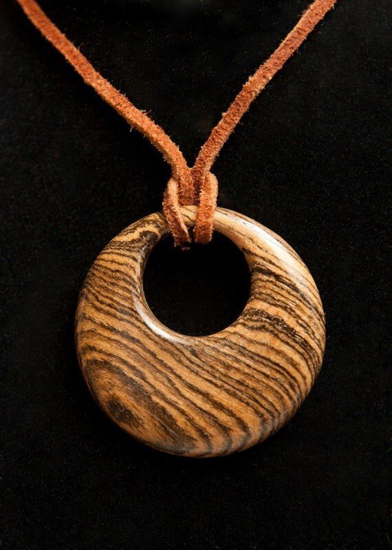 Hand crafted  bocote wooden pendant.