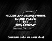 CUSTOM Hidden Leaf Village Symbol Pillow for Beck Prescott