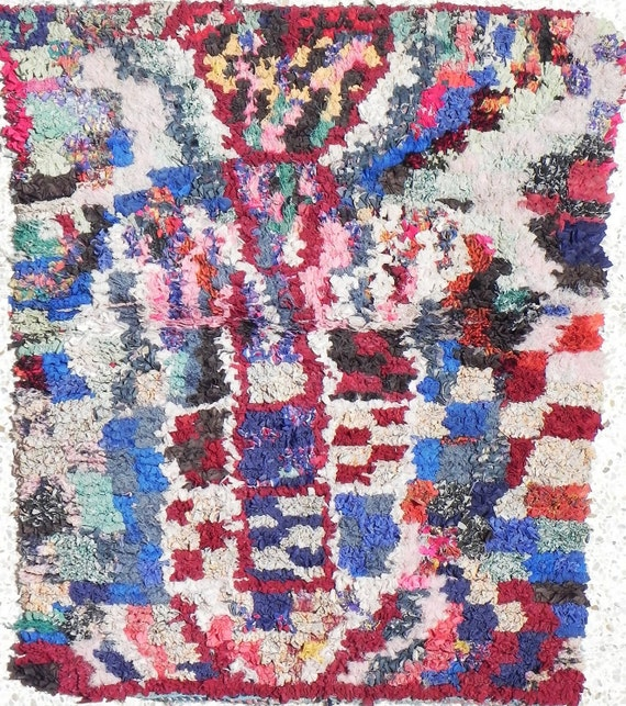 Rag Rug From Morocco Called Boucherouite Tribal By