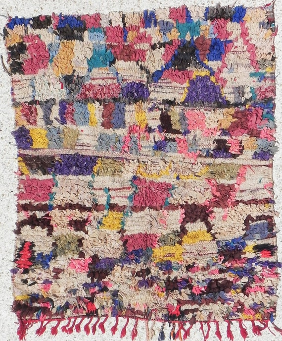 Rag Rug From Morocco Called Boucherouite Berber