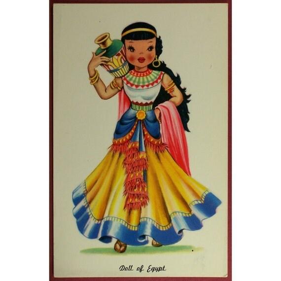 Dolls of Many Lands Postcard Doll of Egypt 1950's - 1960's