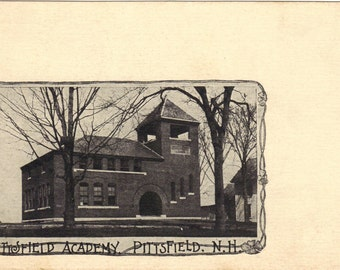 Undivided Back Postcard Historic Pittsfield Academy Very old well over 100 Years old Vintage PostcardUBPC