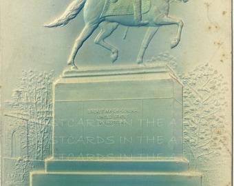 Harrisburg Pennsylvania - Vintage Postcard - Heavily Embossed - Novelty - Souvenir Monument to General Hartranft