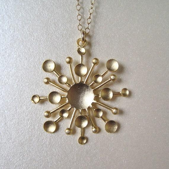 Sun Spark Gold Necklace