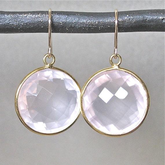 Ballet Pink Quartz Earrings