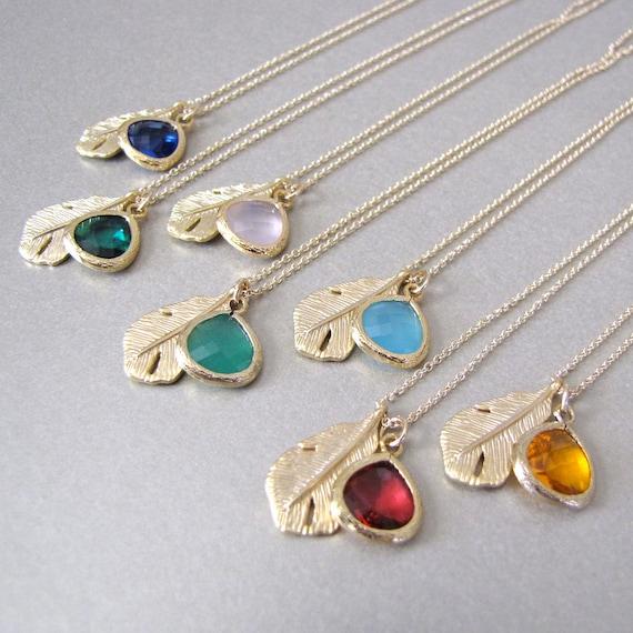 Gold Leaf & Sea Foam Necklace