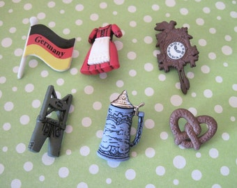 Germany Buttons great for Hair Bows, Jewlery, Scrap Booking, etc.
