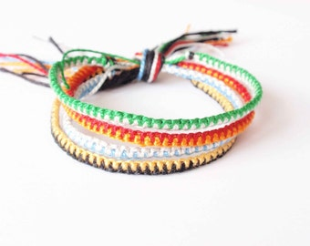 Harry Potter Friendship Bracelet set, gryffindor ravenclaw hufflepuff slytherin bracelet, tiny bracelet, set of 4 bracelets (made to order)