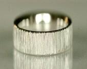 Wedding band, wide band, unisex wedding band, wedding ring, 14k white gold - Velvet No.9