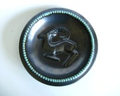 Danish Bowl Michael Andersen Bornholm Pottery Capricorn Brown Turquoise