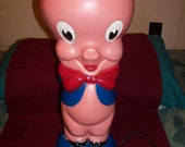 Porky Pig Looney Tunes Warner Brothers Lamp by American Lighting Corp. Large