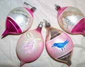 Christmas Tree Ornament Decorations Mercury Balls Mixed Lot