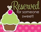 Custom Reserve for Someone Sweet  Marina