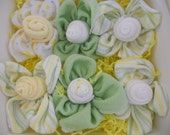 Neutral Delicious Delicacy   Bite Size Rose Bud and Leaves Washcloths