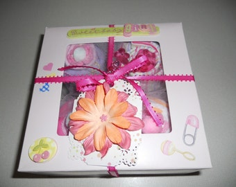 New Sweet Baby Girl 7 Piece Gift Set