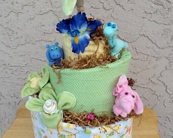 Posh Topsy Turvy Baby Animal Diaper Cake. Custom Orders Welcomed