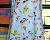Butterflies Moths and Beetles Cotton Halter Sundress, Girls size 10