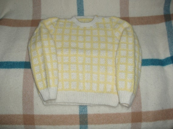 Angora Scottish Hand knit Baby sweater 6 months to 12 months